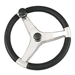 Schmitt Evo Pro 316 Cast Stainless Steel Steering Wheel w/Control Knob - 13.5\