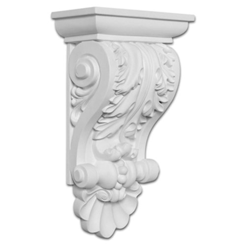 Focal Point 38570 Veranda Decorative Corbel 8 1/4-Inch by 15 1/16-Inch by 5 3/16-Inch, Primed White
