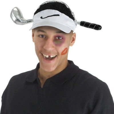 All About Tiger Woods  Cheetah Woods Visor Adult a33fcc68350