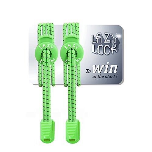 Lazy Lock Qualità Premium lacci elastici sportivi senza legare - poliestere in vari colori - i lacci perfetti per maratona e triathlon atleti, bambini, anziani, ecc