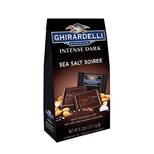 Ghirardelli Chocolate Intense Dark Squares, Sea Salt Soiree, 4.12 oz., 4 Count (Ghirardelli Sea Salt Chocolate compare prices)