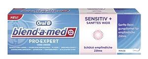 Oral-B blend-a-med Pro-Expert Fluorid-Zahnpasta Sensitiv & sanftes Weiß, 75 ml