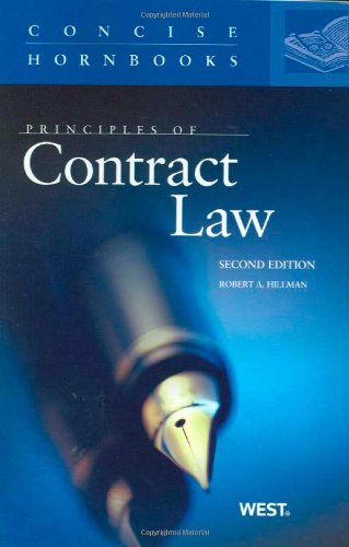 Principles of Contract Law, 2d, The Concise Hornbook Series