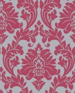 Superfresco Easy Majestic Wallpaper - Hot Pink from New A-Brend