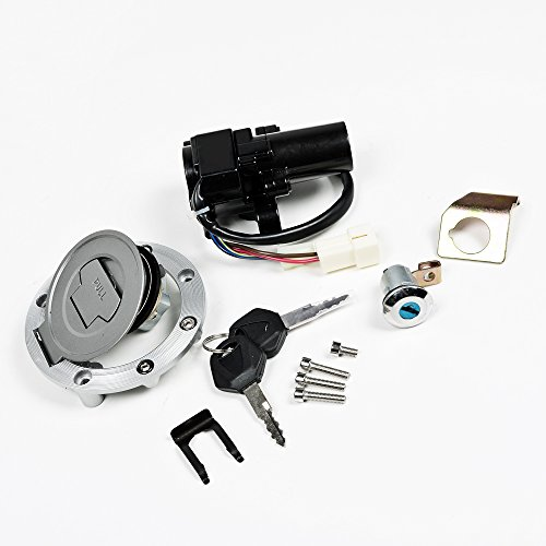 Fit Yamaha YZF R1 R6 R6S FZ6 FJR1300 Ignition Switch Lock Fuel Gas Cap Keys Set (2008 Yamaha R1 Ignition Switch compare prices)