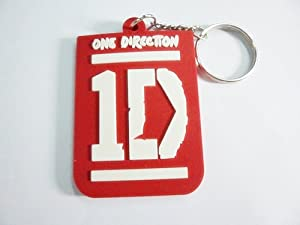 1x 1D ONE DIRECTION MUSIC rubber Keychain Key Fob Ring