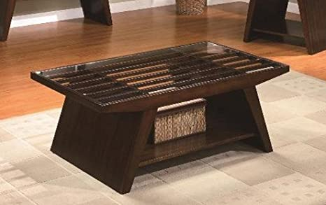 Brand New 48''x28''x19''H Midori Coffee Table with Glass Top