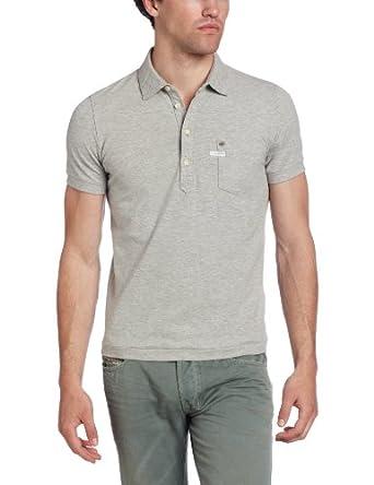 Diesel Men's T-Sun S Polo Shirt, Heather/Grey, Small