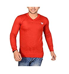 Buff Men's Cotton Sweater (RED101_Red_M)