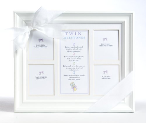 The Grandparent Gift Co. 8x10 Twins Milestones Frame
