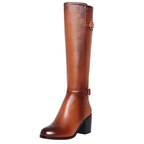 elehot-femme-elenine-bloc-7cm-cuir-souple-bottes-marron-36