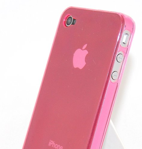 CASE2CASE #05 iPhone 4 G 4G Ultra Thin Hard Case Cover PINK, for AT&T with MINI Sync cable