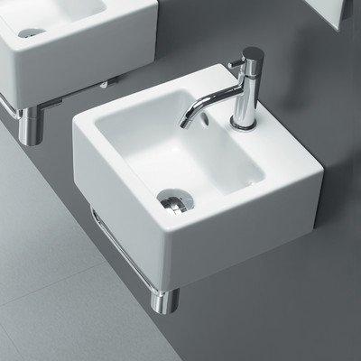 Area Boutique Ice Small Square Ceramic Bathroom Sink