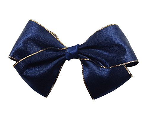 Victoria Cat Girls/ Ladies Navy Blue Party School Ponytail Hair Dress Bow Pin/ Clip/ Barrette Accessory