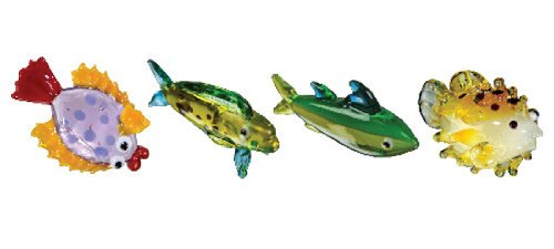 Looking Glass Miniature Collectible - Fishes (4-Pack)