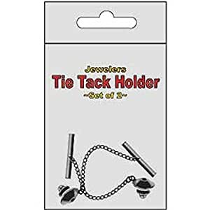 Tie Tack Holders Silver Tone 2 Pcs