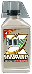 Roundup 5705010 Extended Control Weed and Grass Killer Plus Weed Preventer Concentrate Bottle, 32-Ounce