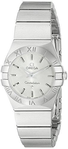 Omega Women's 12310246002001 Constellation Analog Display Swiss Quartz Silver Watch