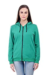 Bonhomie Women Sweatshirts [BCQSO35_Green_Extra Small]