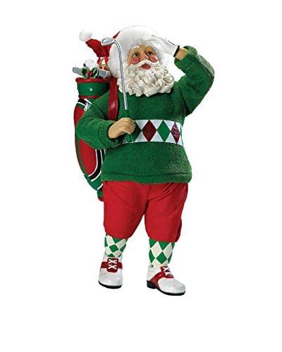 """Kurt Adler 12"""" Fabriché Golf Santa"""