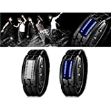 Skmei 9026 Water Resistant LED Sports Watch with Plated IP Strap (Black)