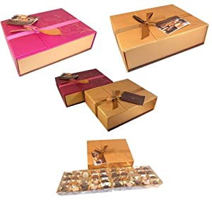 Lyndon Reede Collections Fine Belgian Chocolate Assortment Christmas Holiday Hanukkah Gift Present 17.6 Ounce Pre Wrapped Present