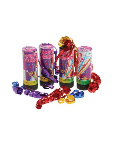 Set of 4 Spring Loaded Birthday New Years Eve Celebration Party Confetti Cannons