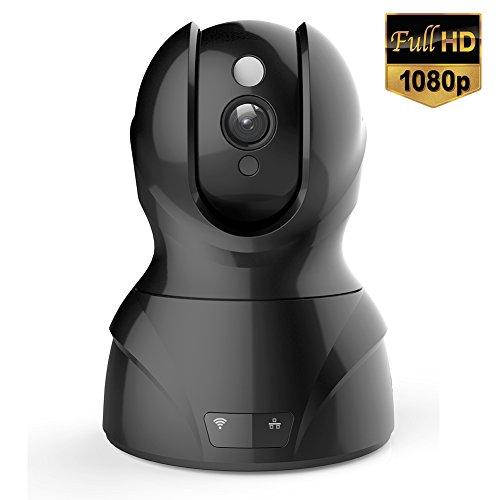 Milool-Wireless-IP-Kamera-2MP-berwachungskamera-19201080-2MPPlug-und-Play-Video-berwachung-PanTilt-mit-2-Wege-Audio-Netzwerk-Kamera-Night-Vision-Motion-Detection-Micro-SD-Karte-bis-zu-64-GB-Schwarz