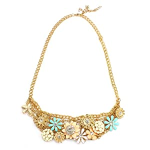 New Luxurious Cute Multi Flower Necklace Statement Necklace 11
