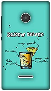 The Racoon Grip Turquoise Screwdriver hard plastic printed back case / cover for Microsoft Lumia 435