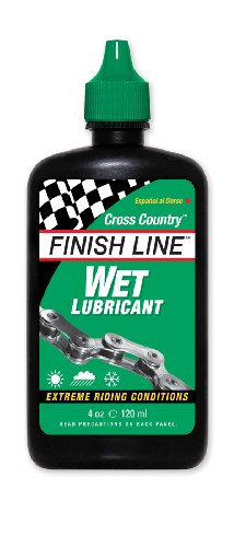 Finish Line WET Bicycle Chain Lube, 4-Ounce Drip Squeeze Bottle