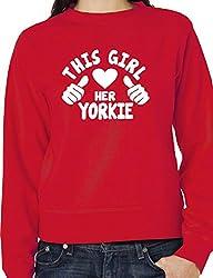 This Girl Loves Her Yorkie Dog Ladies Unisex Sweatshirt Size S-XXL