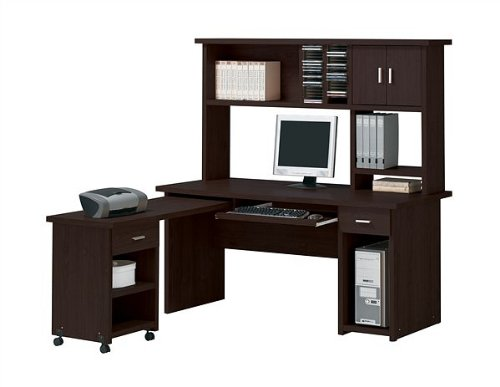 06622bd893e5 Espresso Finish Home Office Computer Desk with Hutch On Sale ...