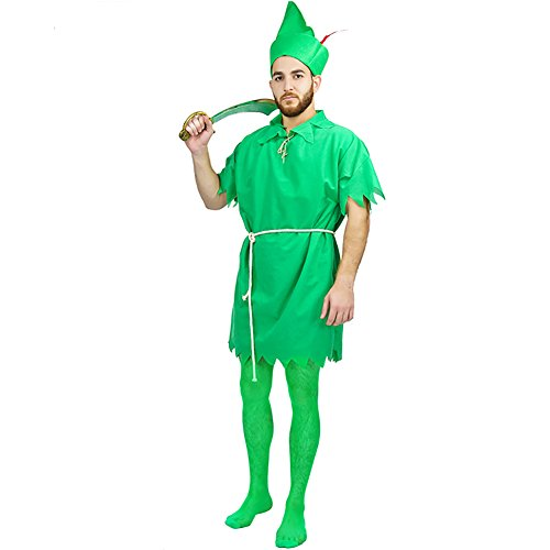 Carnival Peter Pan Party Costumes (One Size, Men Green) (Peter Pan Tunic compare prices)