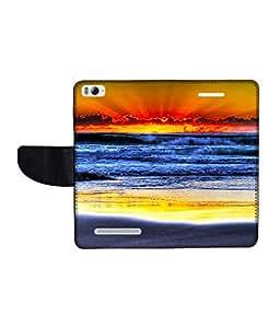 KolorEdge Printed Flip Cover For Xiaomi Mi 4I Multicolor - (1478-50KeMLogo11050XiaomiMI4I)