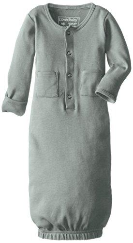 L'ovedbaby Unisex-Baby Organic Cotton Gown, Seafoam, 0/3 Months