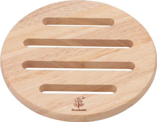 不二貿易 木製 鍋敷き ラウンド ボヌール 96034
