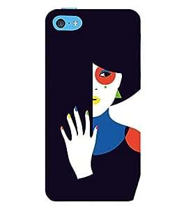 EPICCASE intriguing lady Mobile Back Case Cover For Apple iPhone 5c (Designer Case)