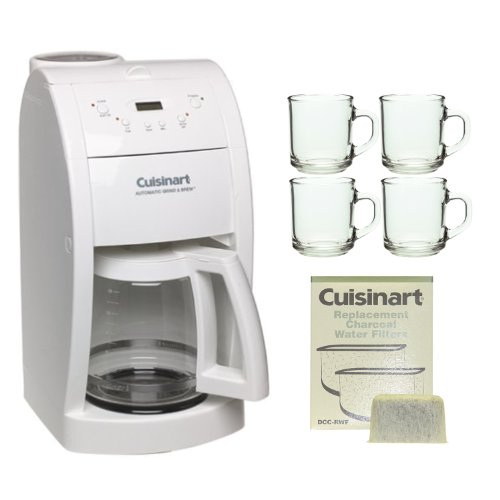 Cuisinart Coffee Maker Filter Instructions : cuisinart grind and brew manual: Cuisinart DGB-500 Grind & Brew in White + 4 Pieces10 oz. ARC ...