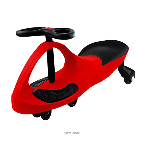 Swivel Car Rolling Ride On Toy - Indoor / Outdoor, RED