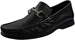 Shoe Bazar Black Leather Loafers B01M1C5JKX