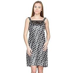 Species Women's A-line Dress (S-339_Grey_Medium)