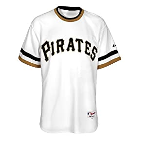 Roberto Clemente Pittsburgh Pirates Majestic Cooperstown Replica White Jersey by Majestic