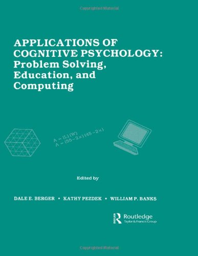 Applications Of Cognitive Psychology: Problem Solving, Education, And Computing front-703930