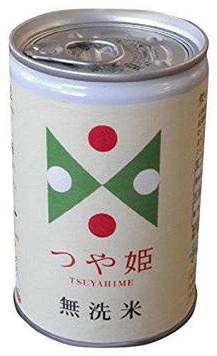 三和缶詰 つや姫 無洗米 防災缶 300g