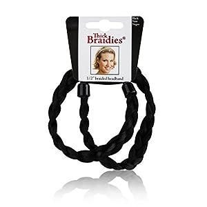 Braidies Thick Braided Headband Black
