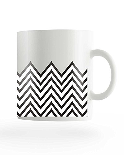 PosterGuy Abstract Art Blue Black And White Designer White Ceramic Coffee Mug