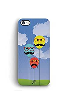 YuBingo Balloons with Moustaches Mobile Case Back Cover for Apple iPhone SE