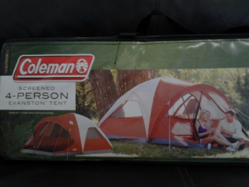 Coleman 4-Person Evanston Tent with Screened Porch Canopy 9 Ft x 7 Ft Fits Queen Bed & Aselon Blog: Coleman 4-Person Evanston Tent with Screened Porch ...