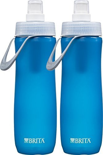 Brita Sport Water Filter Bottle, 20-Ounce, Blue (2, Blue) (Black Filter Water Bottle compare prices)